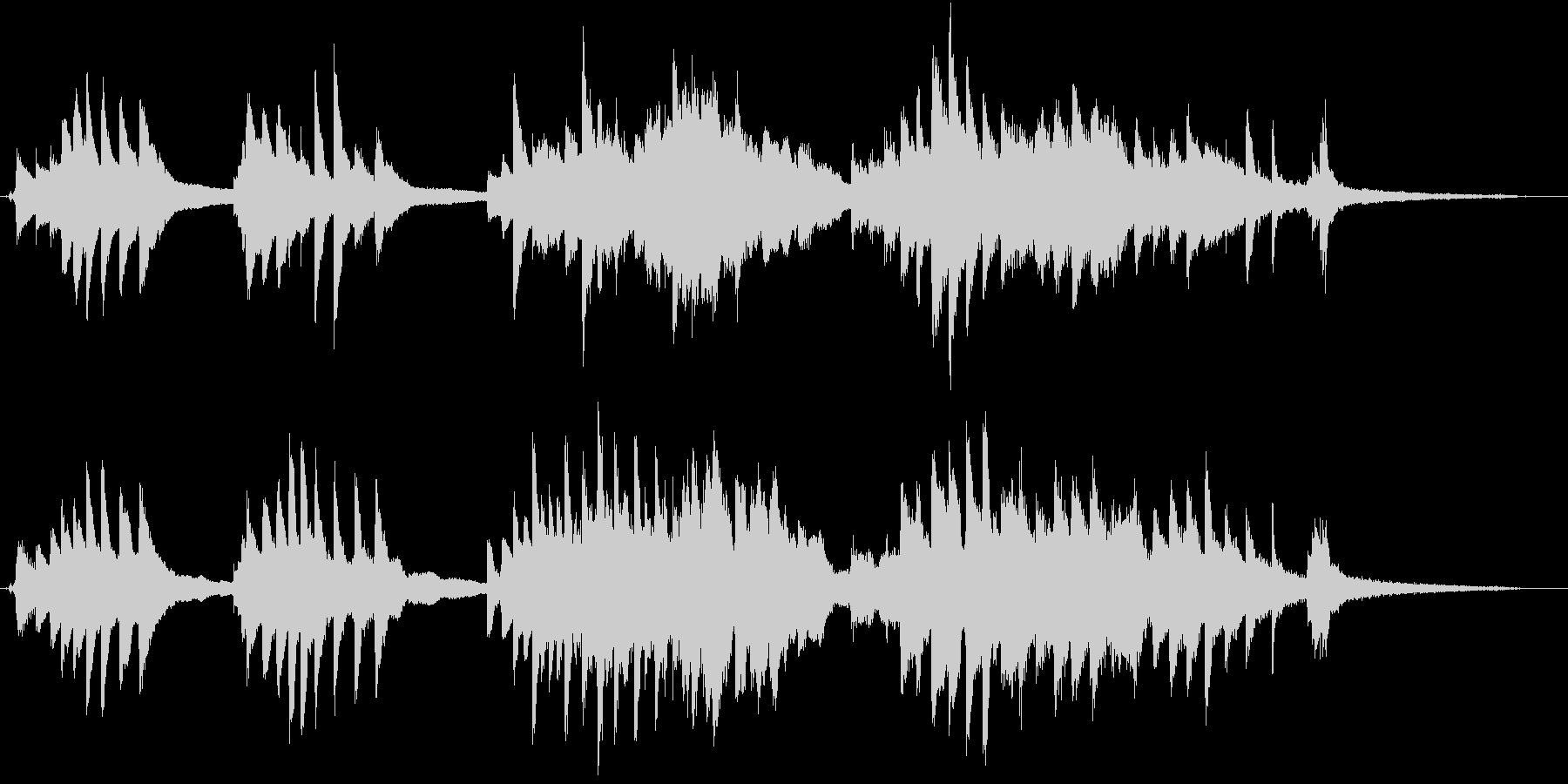 ピアノと弦楽の麗しいハーモニーのバラッドの未再生の波形