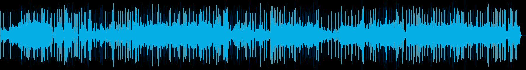 【ゲーム】ギターロックとデジタルサウンドの再生済みの波形