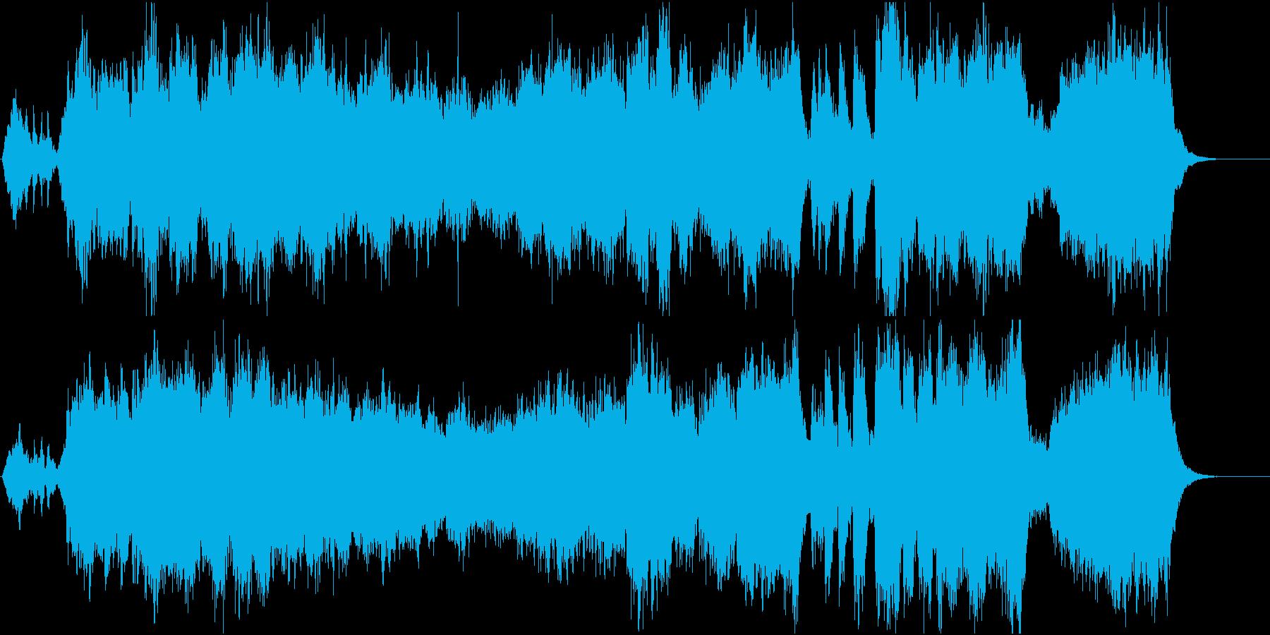 オープニング用、中世風のオーケストラ楽曲の再生済みの波形
