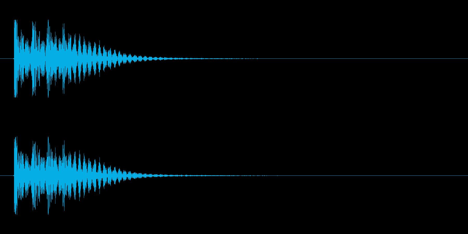 【衝撃03-4】の再生済みの波形