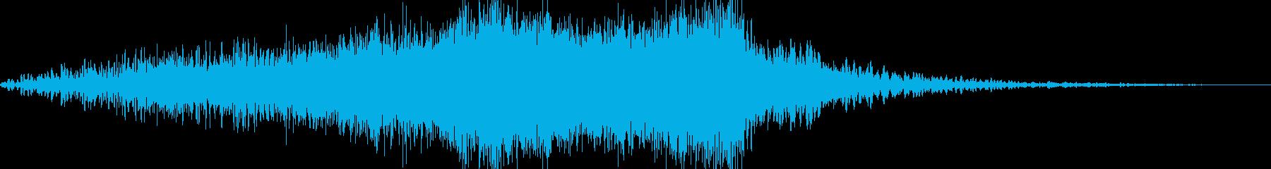 ホラー系アイキャッチ 上昇音 映画風の再生済みの波形