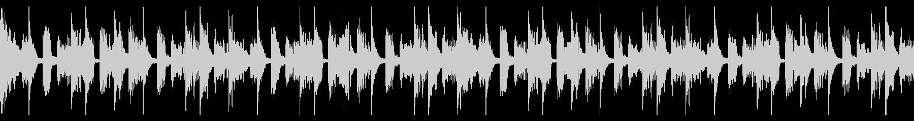 ポップな電子音曲のループの未再生の波形