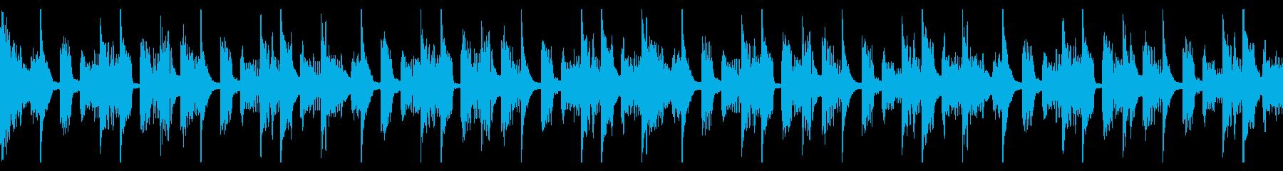 ポップな電子音曲のループの再生済みの波形