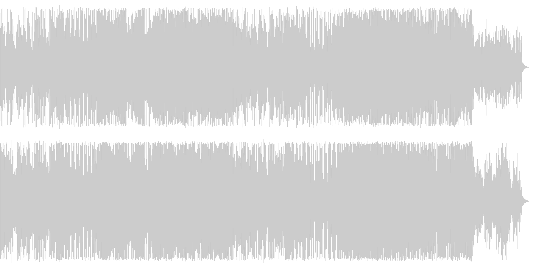 ピアノとストリングスの切ないテクノの未再生の波形