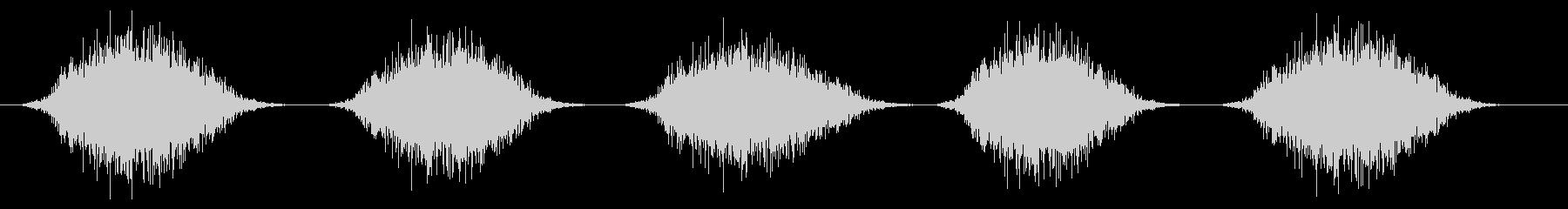 スプレー噴射(連射)シュッ×5の未再生の波形