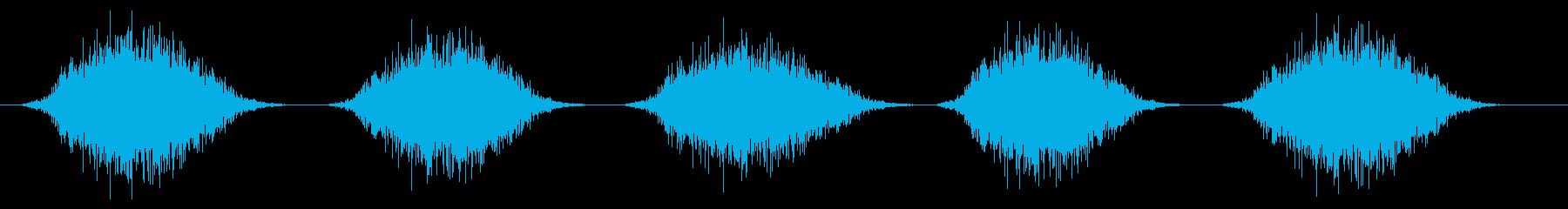 スプレー噴射(連射)シュッ×5の再生済みの波形