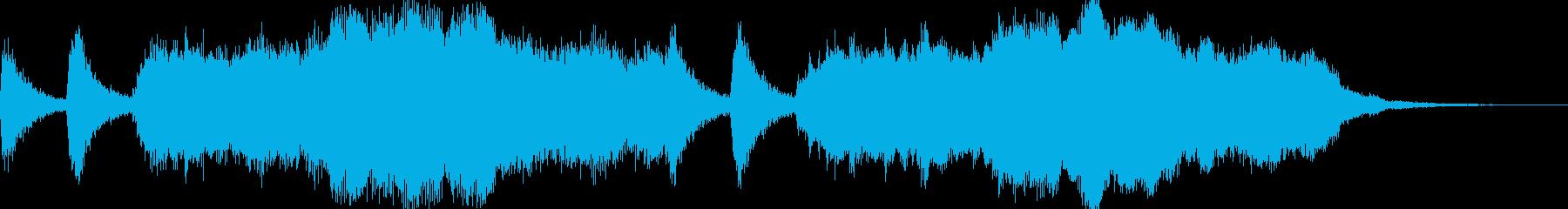 和風=公家さん登場風ファンファーレの再生済みの波形