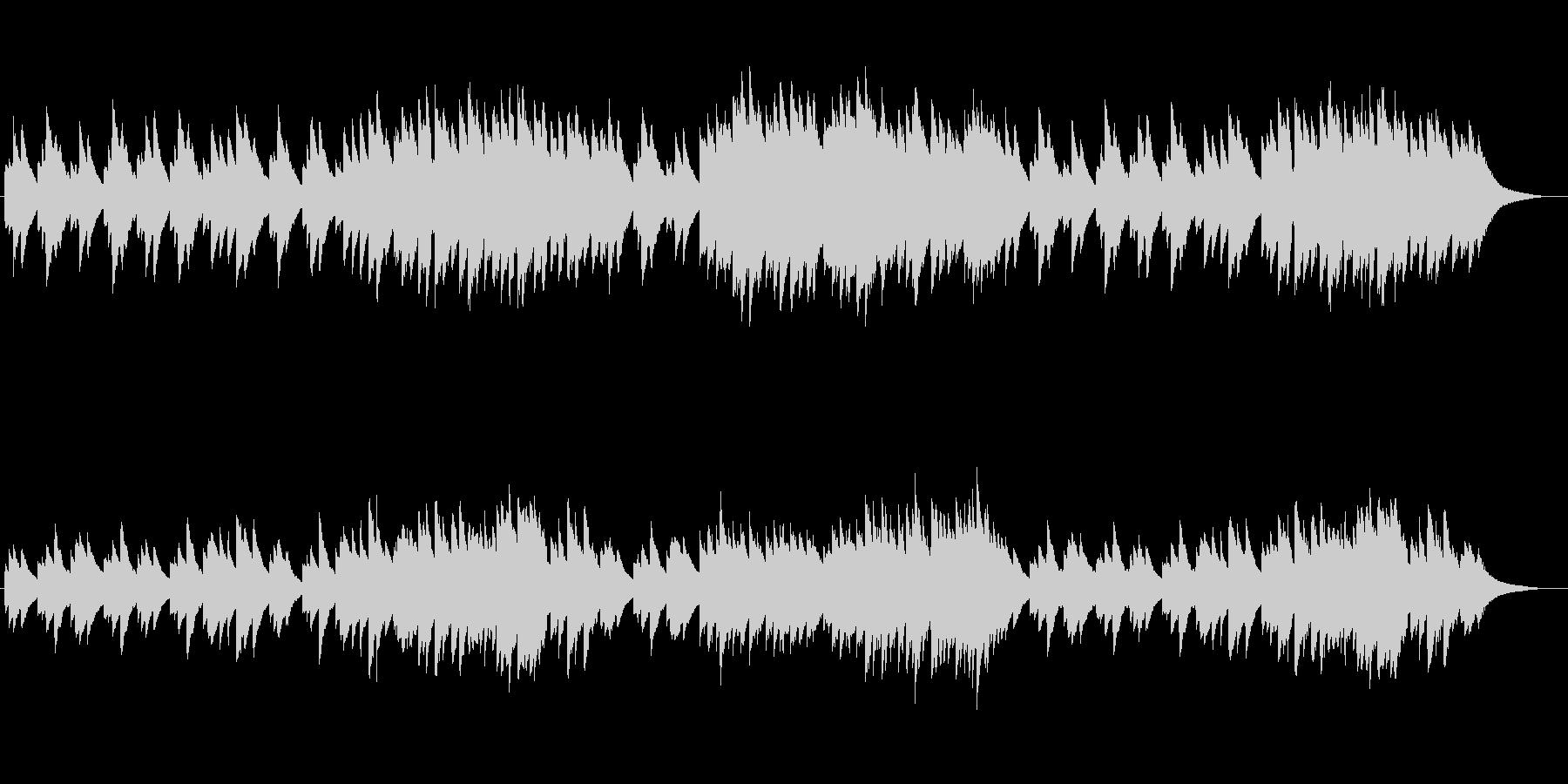 オルゴールのリラクゼーションミュージックの未再生の波形