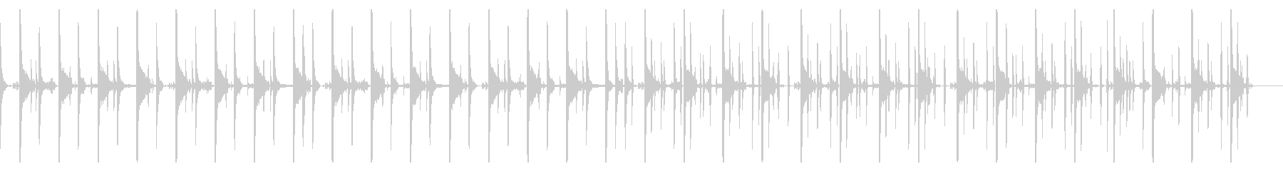 キックなし、123 BPMの未再生の波形