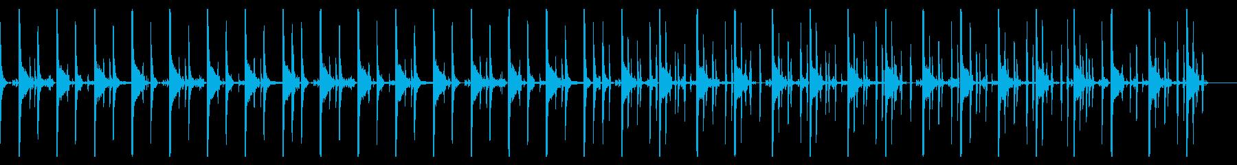 キックなし、123 BPMの再生済みの波形