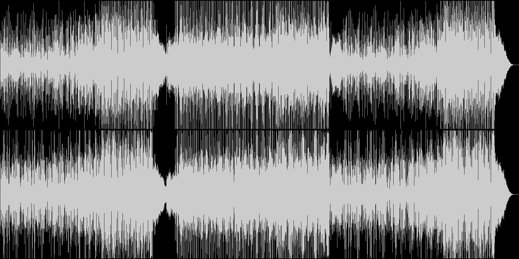 ウクレレとアコギの爽やかなハワイアンの未再生の波形