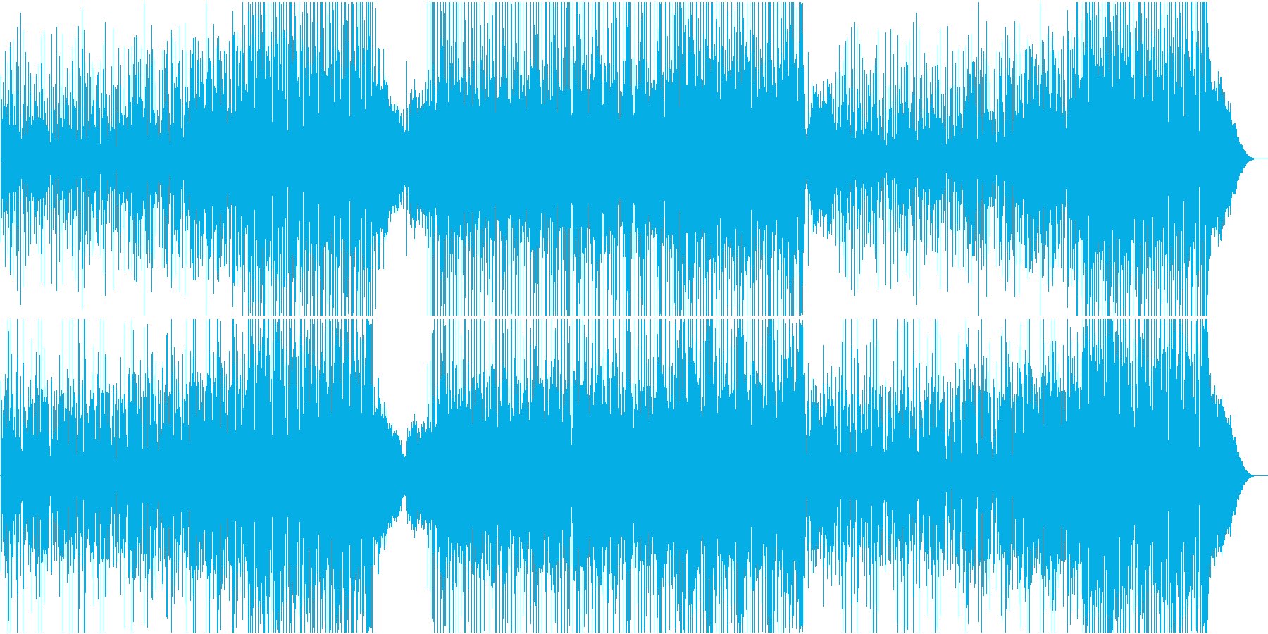 ウクレレとアコギの爽やかなハワイアンの再生済みの波形