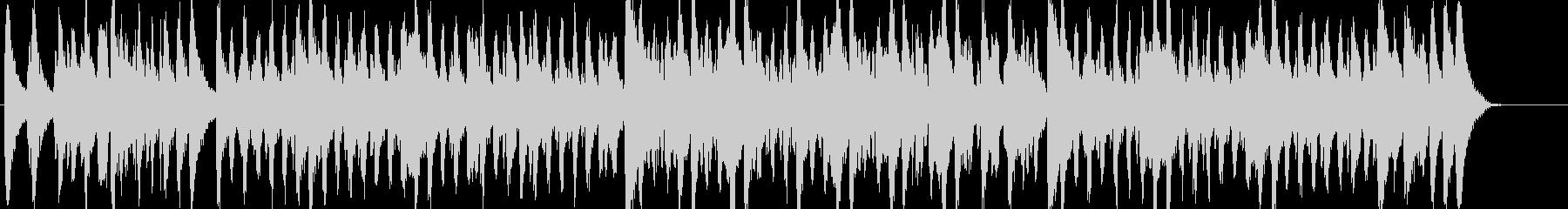 行進曲風のほのぼのとしたBGMの未再生の波形