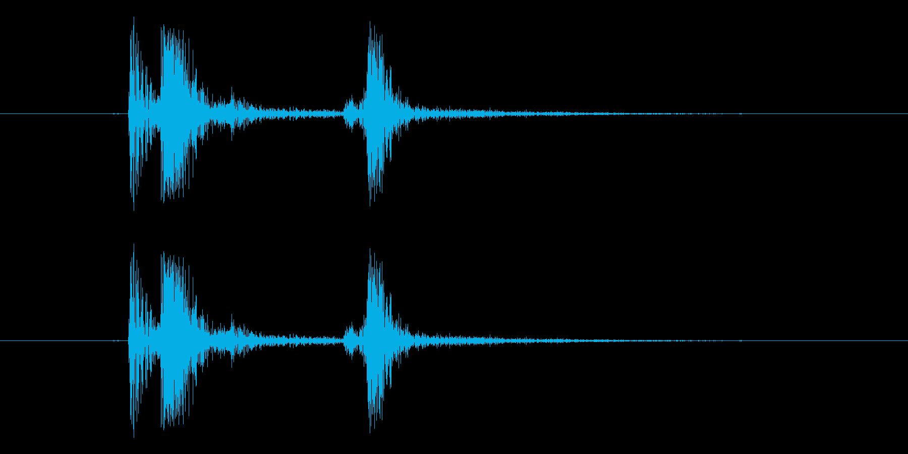 タップ音(お箸を置く音)の再生済みの波形