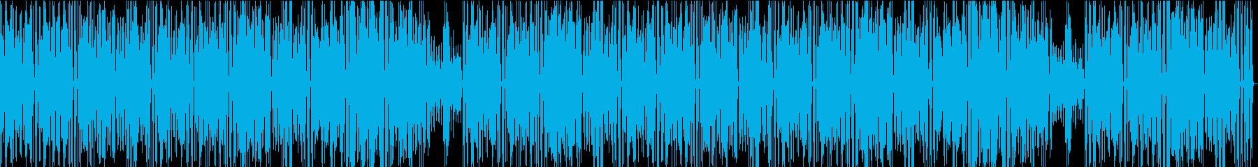 ほのぼの、のんびりした雰囲気のインスト曲の再生済みの波形