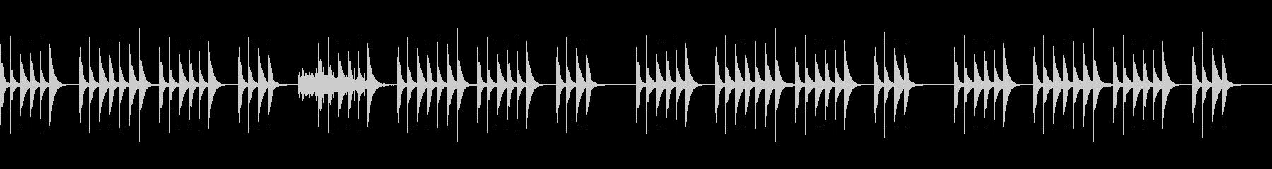 コミカルな雰囲気の劇伴BGMの未再生の波形