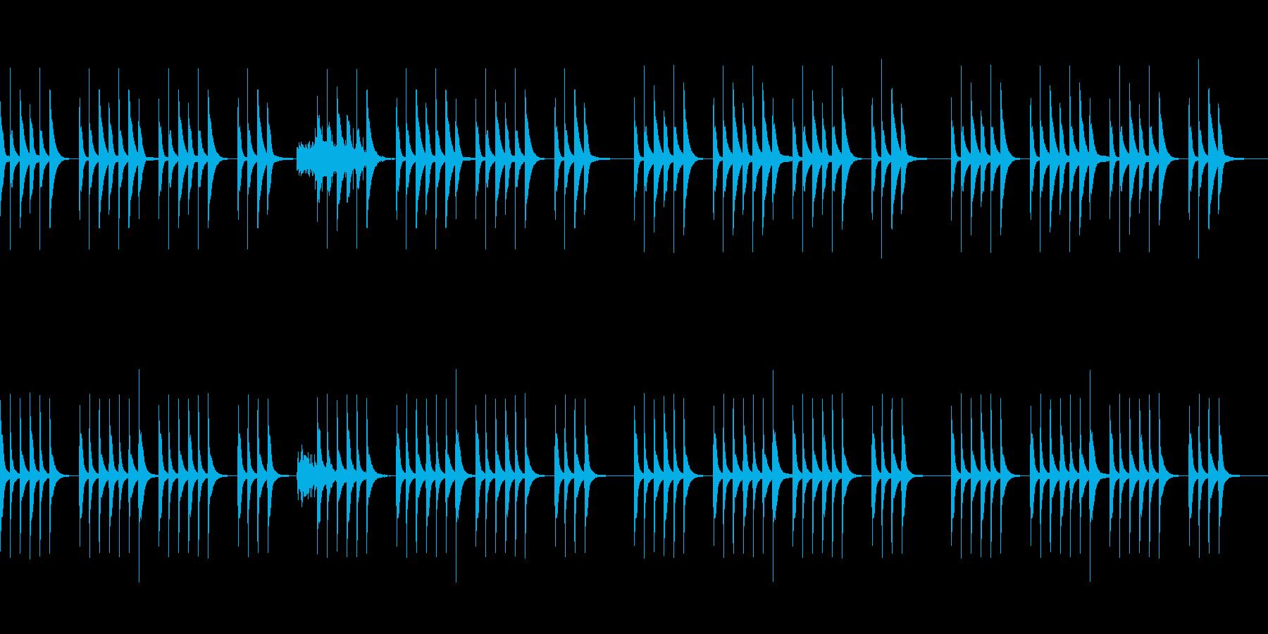 コミカルな雰囲気の劇伴BGMの再生済みの波形