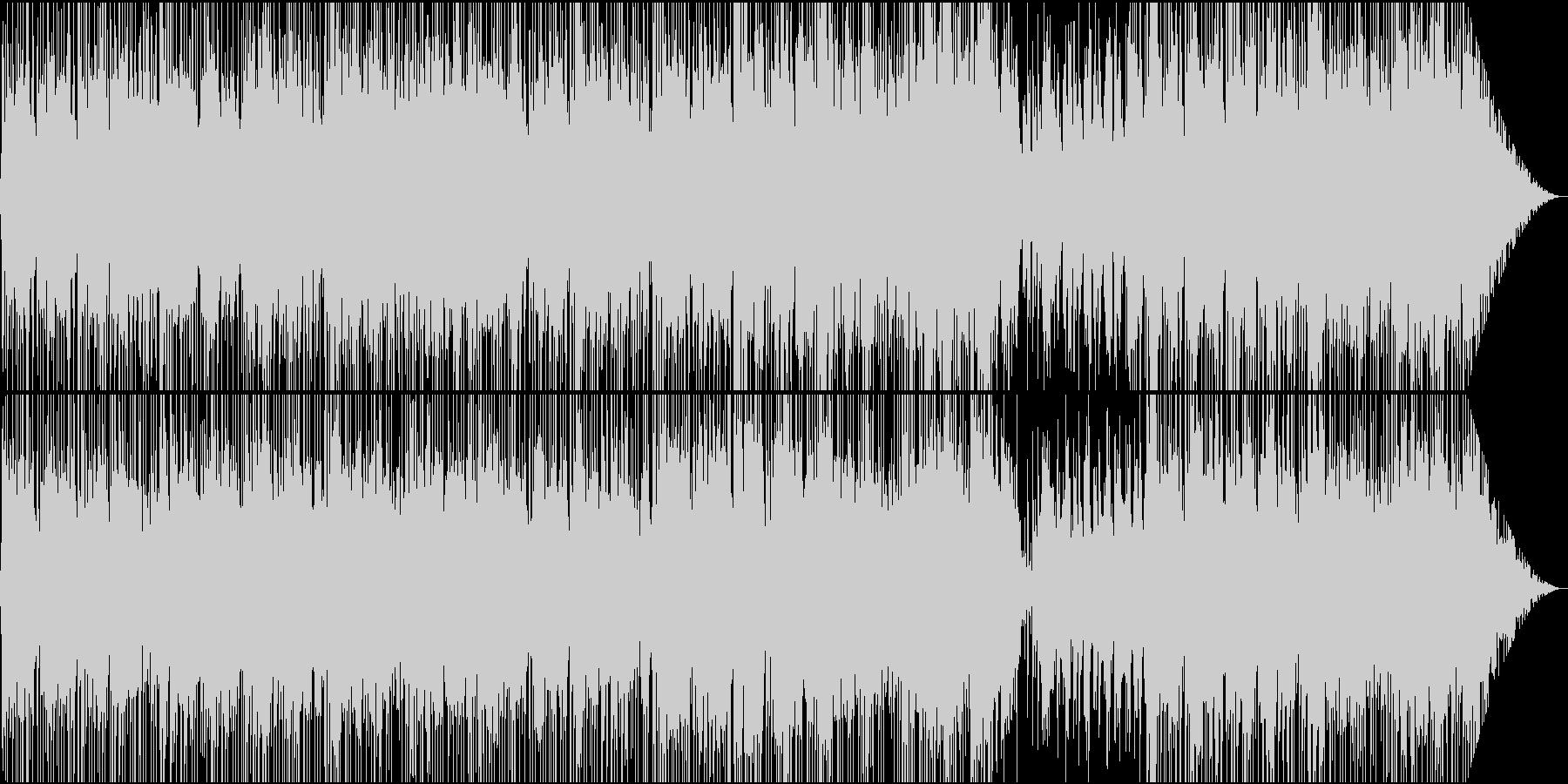 軽快なオープニング向けBGMの未再生の波形