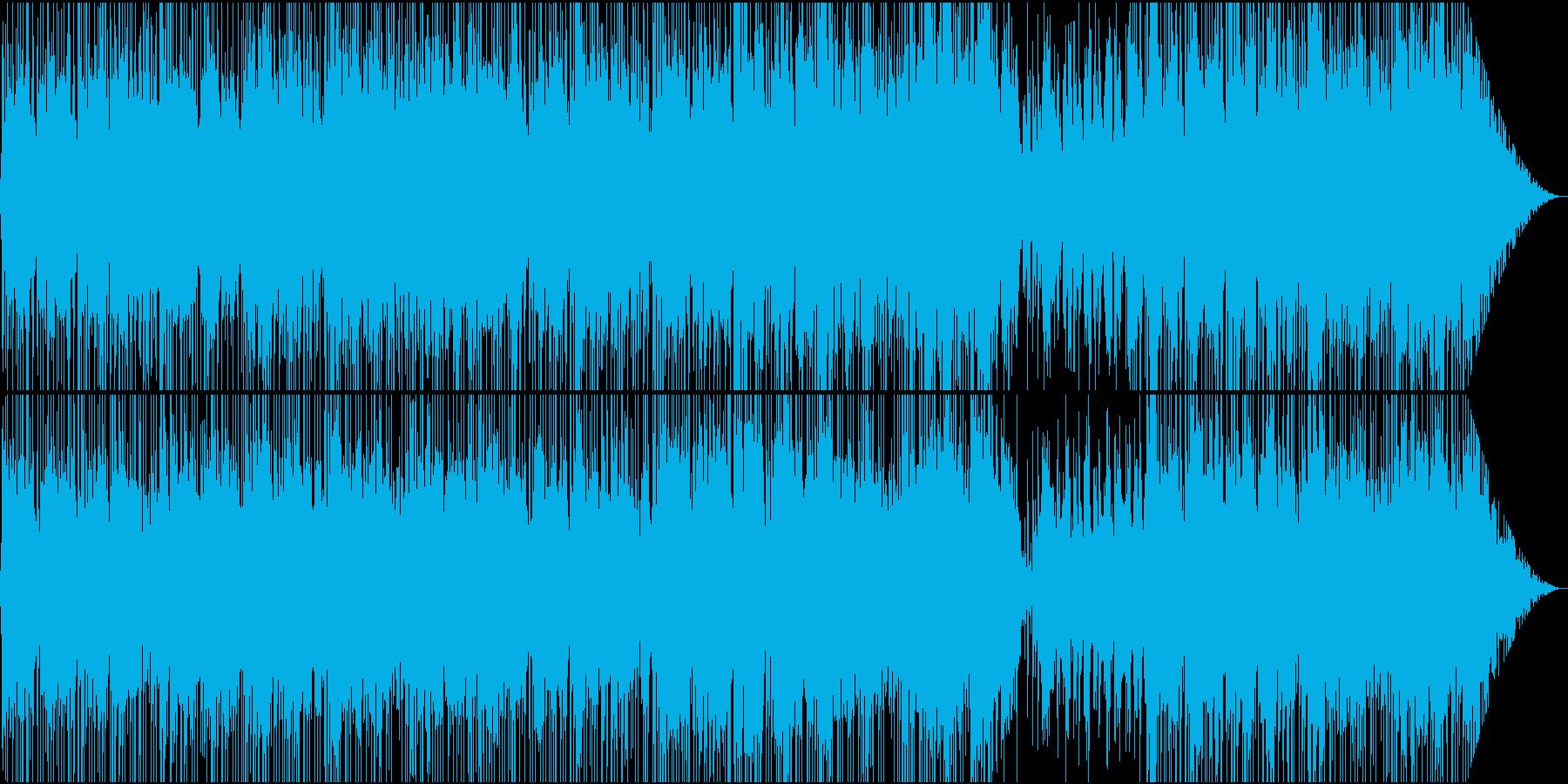 軽快なオープニング向けBGMの再生済みの波形