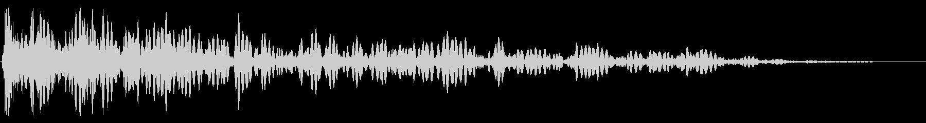 ヘビースペースクルクルエクスプロージョンの未再生の波形