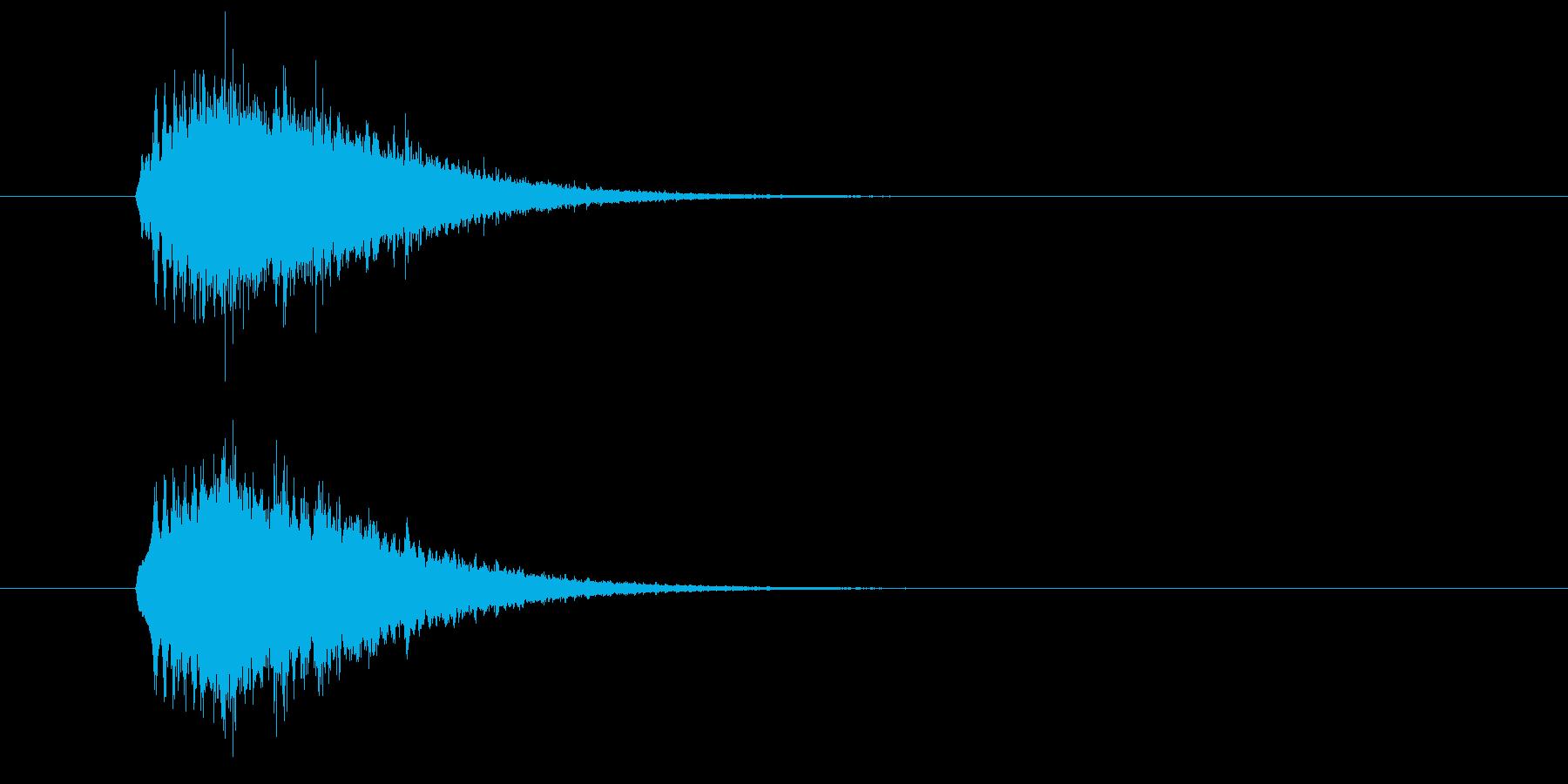 キラーン(華やかな音・余韻短い) 01の再生済みの波形