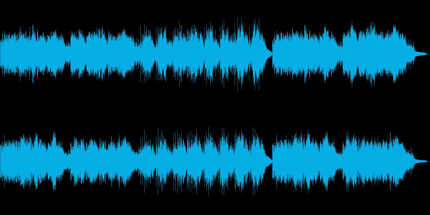 時代劇のテーマ曲の再生済みの波形