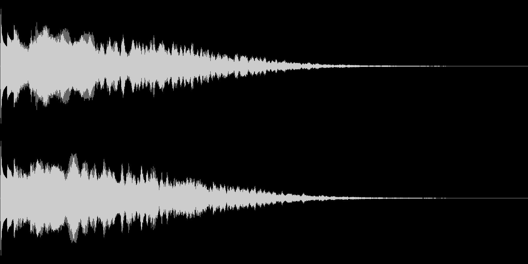 キラーン(決定音、アイテム入手音)の未再生の波形