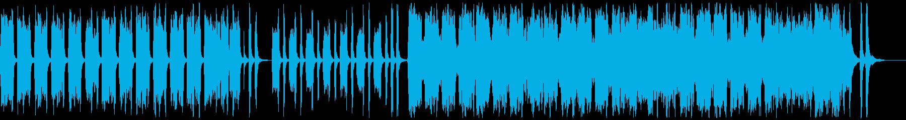 アコーディオンとバイオリンの楽しげな曲bの再生済みの波形