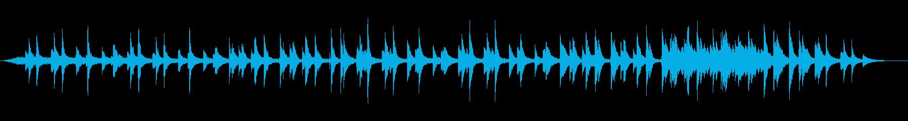 ゆっくりでひっそりしたメロディーの再生済みの波形