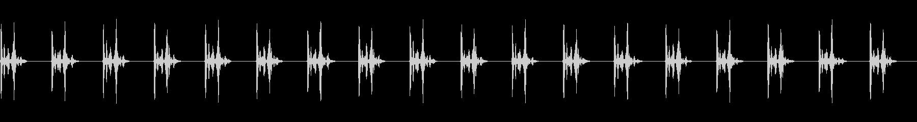 ハートビート合成ハートビート80 BPMの未再生の波形