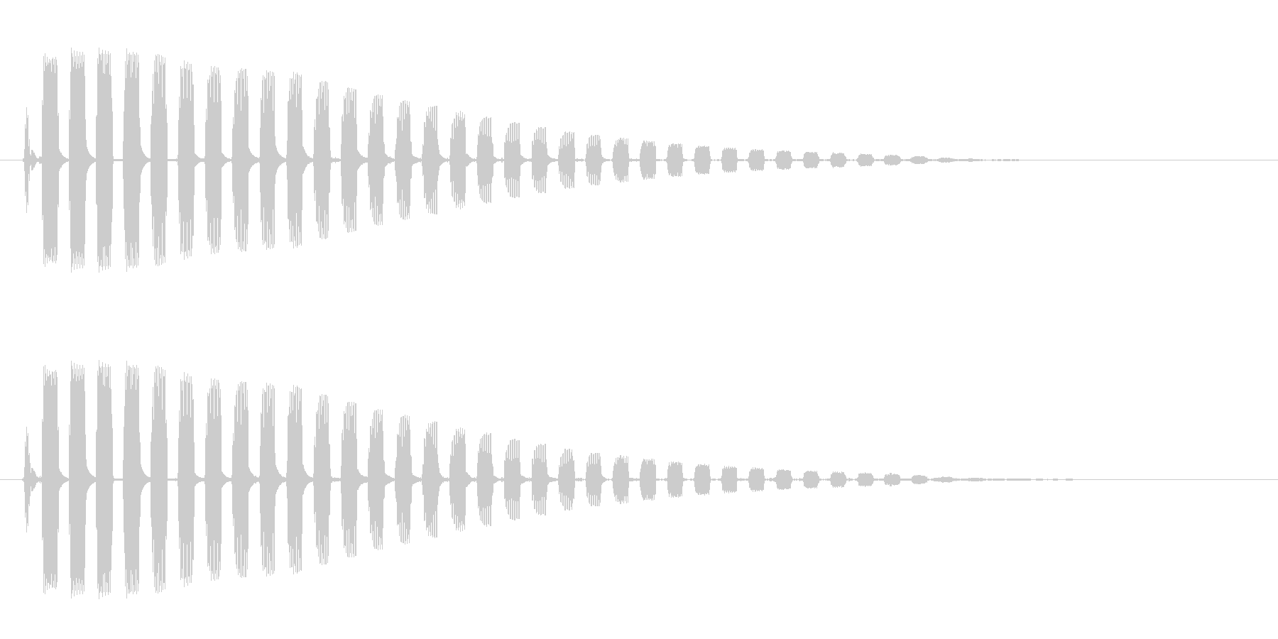 ビヨーン(蛙の飛び跳ねる音)の未再生の波形