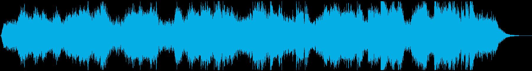宇宙の誕生から星の変遷のアンビエント曲の再生済みの波形