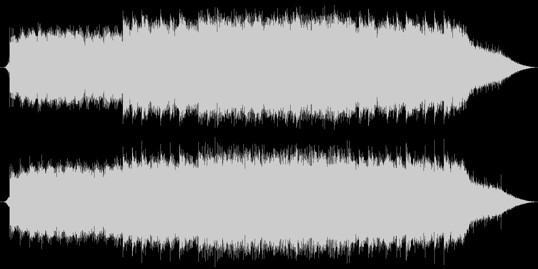 雨の音とピアノの幻想的な曲の未再生の波形