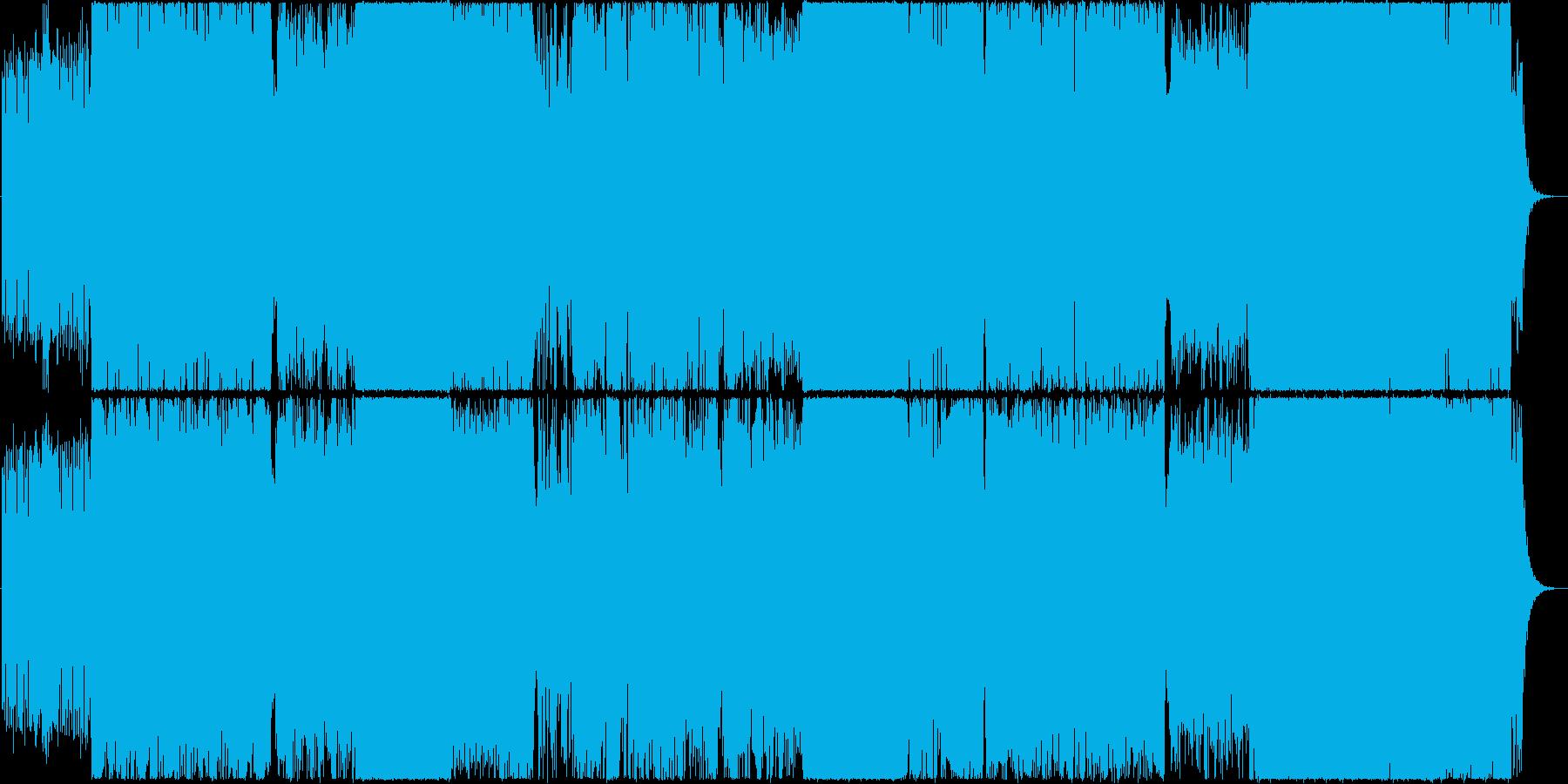 壮大で感動的なロックEDMの再生済みの波形