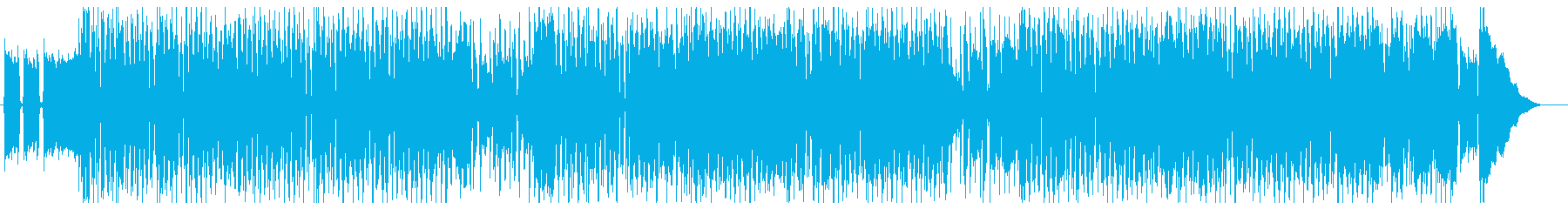 ノリの良いブルースセッションの再生済みの波形