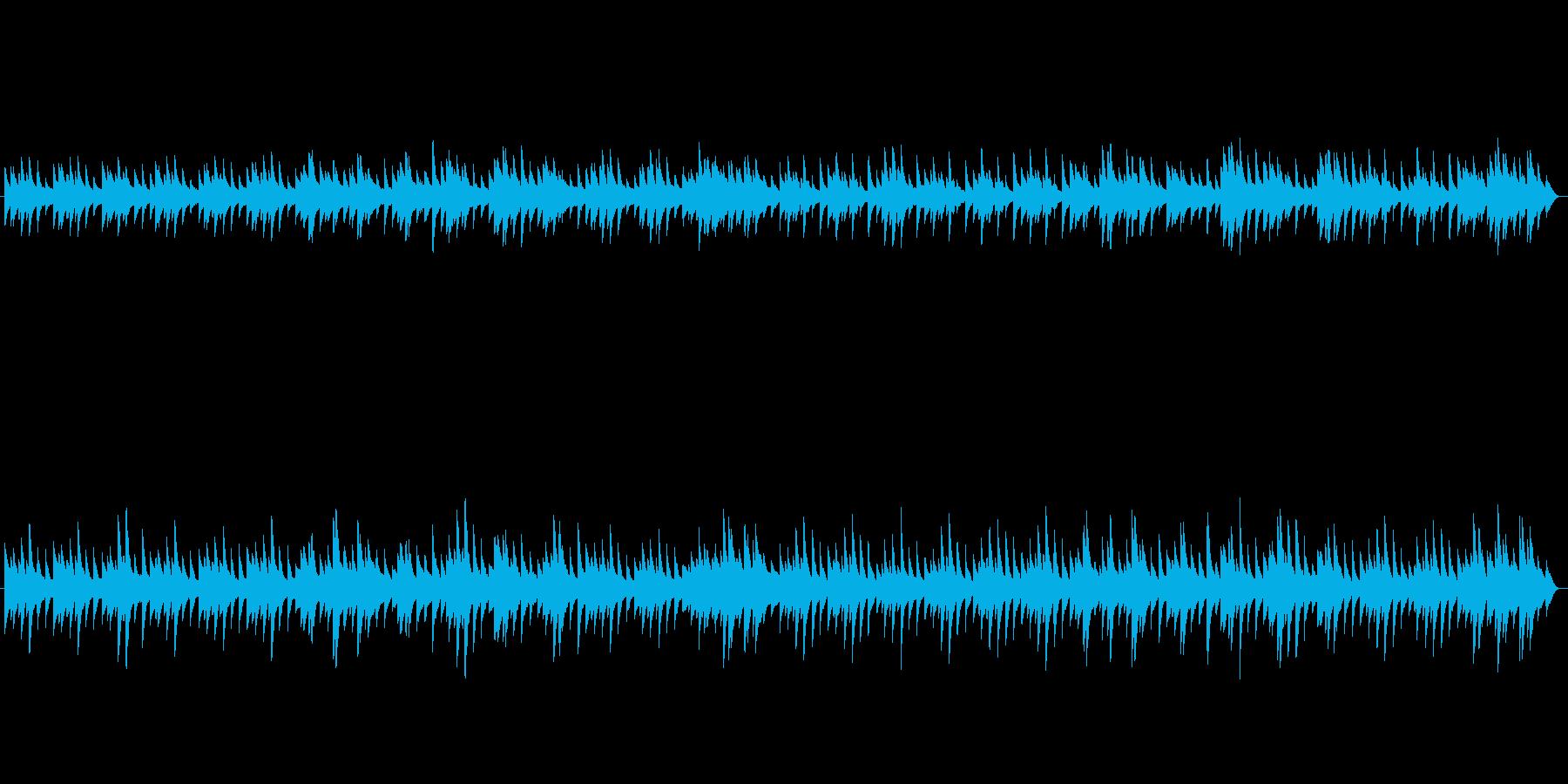 動きが遅く、非常にきれいなオルゴー...の再生済みの波形