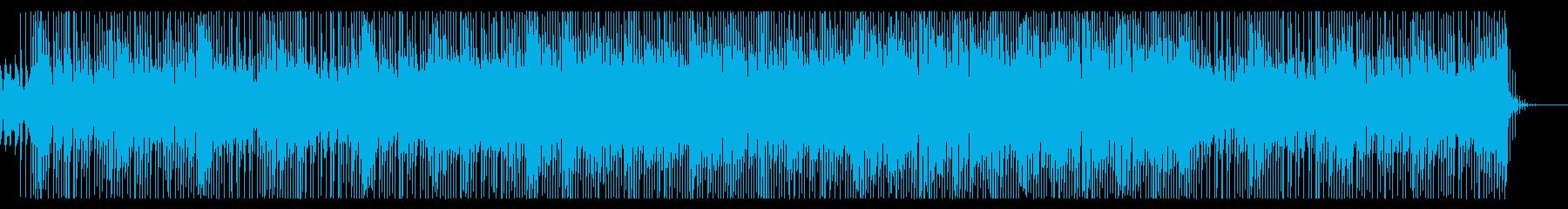 明るく元気でユーモラスな曲の再生済みの波形