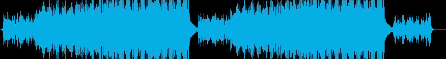 ボーカルチョップを使った明るいEDMの再生済みの波形