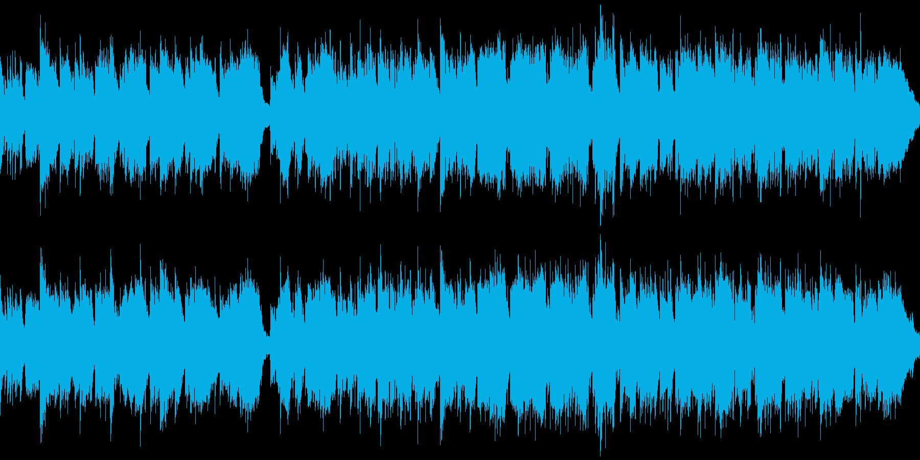 篠笛生演奏の和風バラード ※ループ仕様版の再生済みの波形