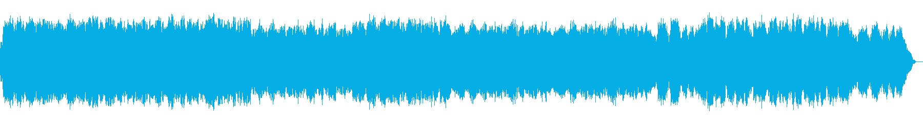 薄暗い夜明けの感じの笛の音楽の再生済みの波形