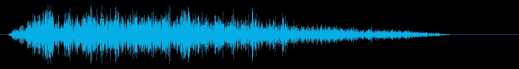 ザーッという摩擦系の音の再生済みの波形