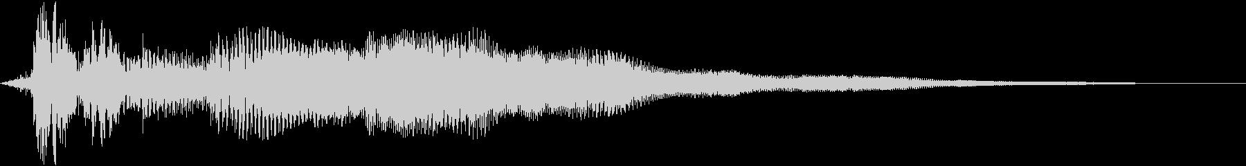 【ホラーゲーム】ボカッ・・ウーンッ・・・の未再生の波形