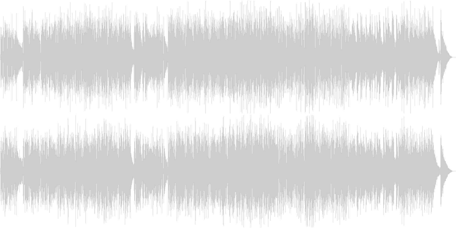 夏の午後をイメージ、スローなポップスの未再生の波形