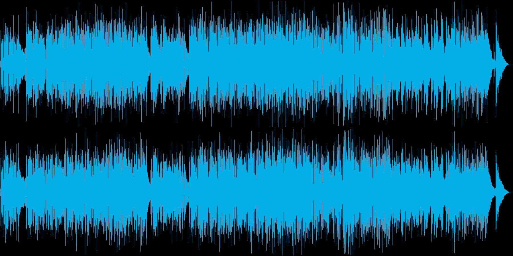 夏の午後をイメージ、スローなポップスの再生済みの波形