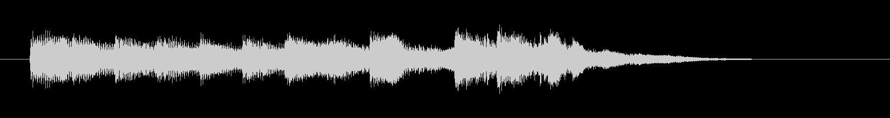 ピアノとベルのシンプルなジングル、ロゴ等の未再生の波形