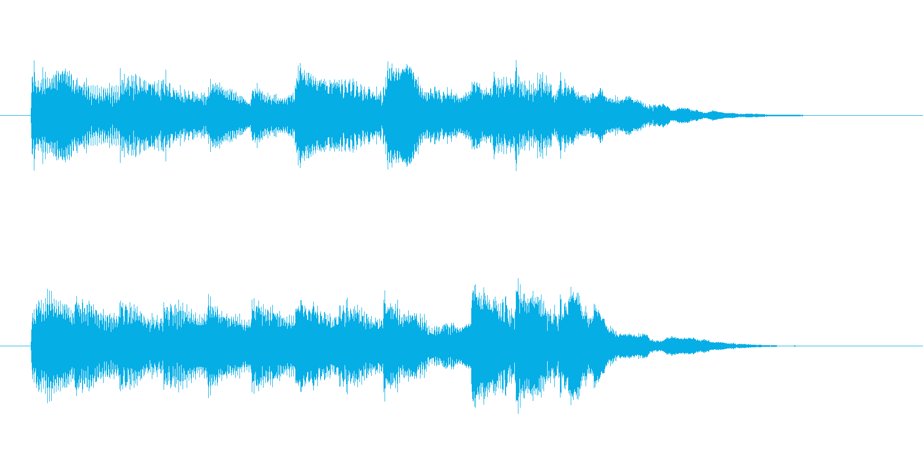 ピアノとベルのシンプルなジングル、ロゴ等の再生済みの波形