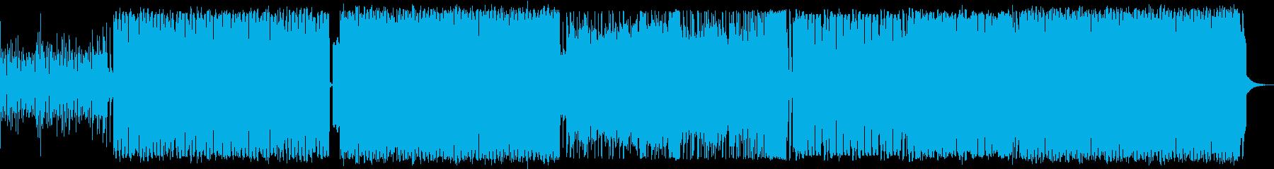 明るくてノリの良いハウス調の曲の再生済みの波形