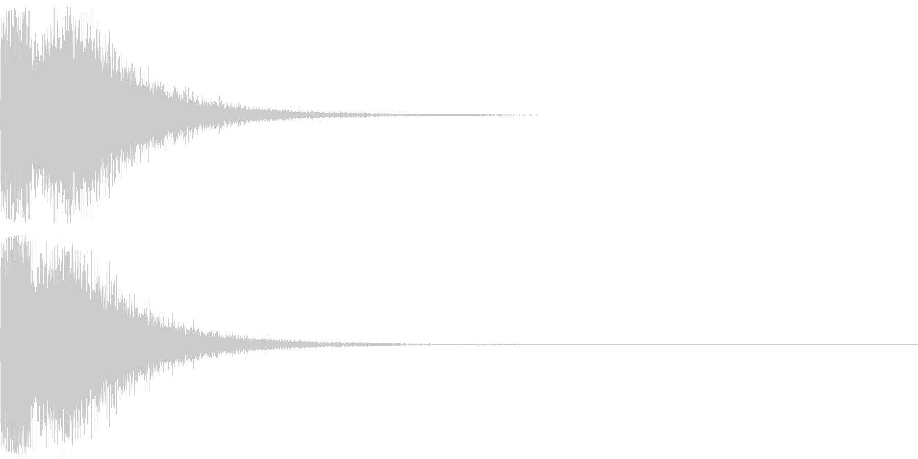 衝撃音、ノイズ(パーン)の未再生の波形