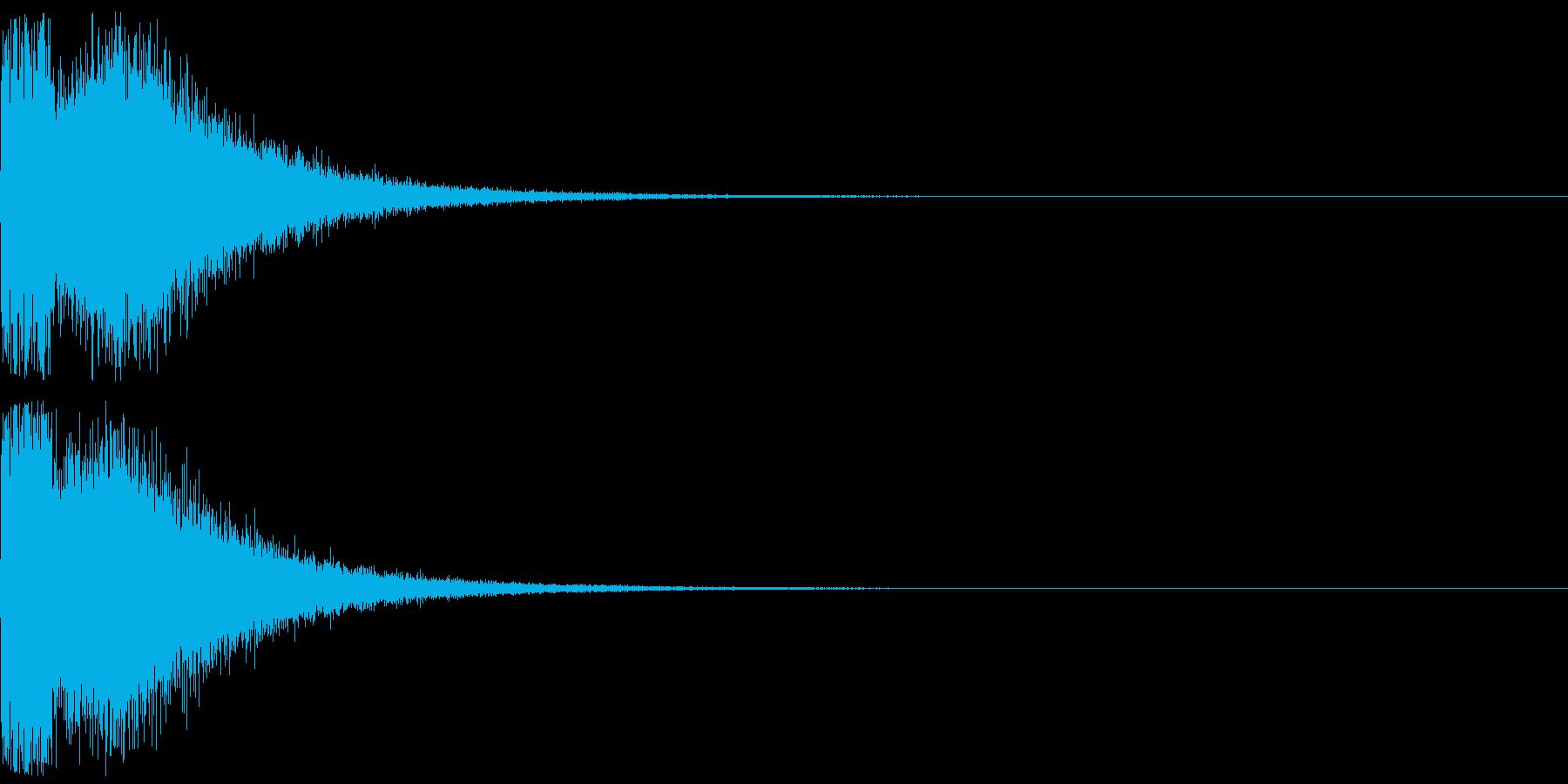 衝撃音、ノイズ(パーン)の再生済みの波形