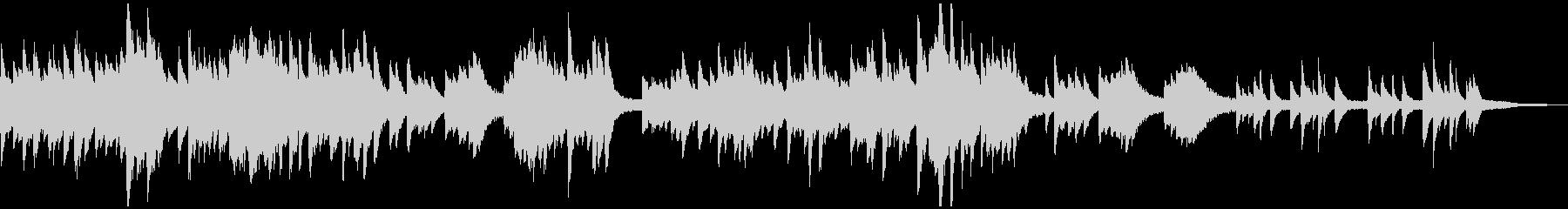 クリスマス・キャロルの感動的なソロピアノの未再生の波形